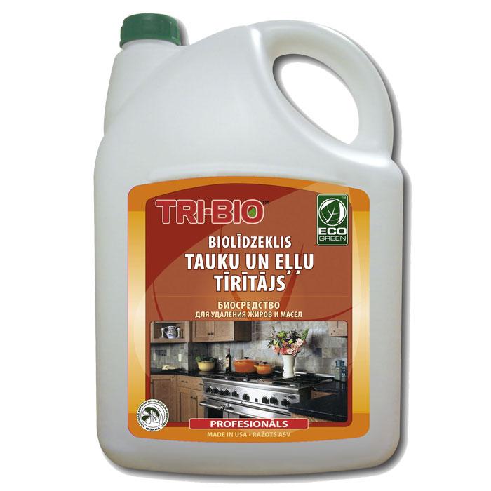 Биосредство для удаления жиров и масел Tri-Bio, 4,4 л0078Биосредство Tri-Bio предназначено для чистки кухонной плиты, духовки, вытяжки, микроволновой печи, кухонных поверхностей, пола и др. Эффективно даже при сильном застарелом загрязнении. Ликвидирует запахи, легко проникает в швы, позволяет обеспечить более длительный контроль запаха и более глубокую чистку. Особенности биосредства Tri-Bio для здоровья: Без фосфатов, без растворителей, без хлора отбеливающих веществ, без абразивных веществ, без отдушек, без красителей, без токсичных веществ, нейтральный pH, гипоаллергенно. Безопасная альтернатива химическим аналогам. Присвоен сертификат ECO GREEN. Рекомендуется для людей склонных к аллергическим реакциям и страдающих астмой. Особенности биосредства Tri-Bio для окружающей среды: Низкий уровень ЛОС, легко биоразлагаемо, минимальное влияние на водные организмы, рециклируемые упаковочные материалы, не испытывалось на животных. Особо рекомендуется использовать в домах с автономной канализацией. ...