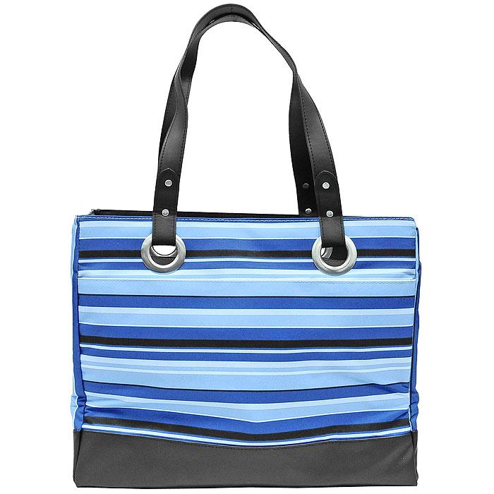 "Thermos Сумка-термос Raya ""Stripe"", цвет: черный, синий, голубой, 20 л 421036"