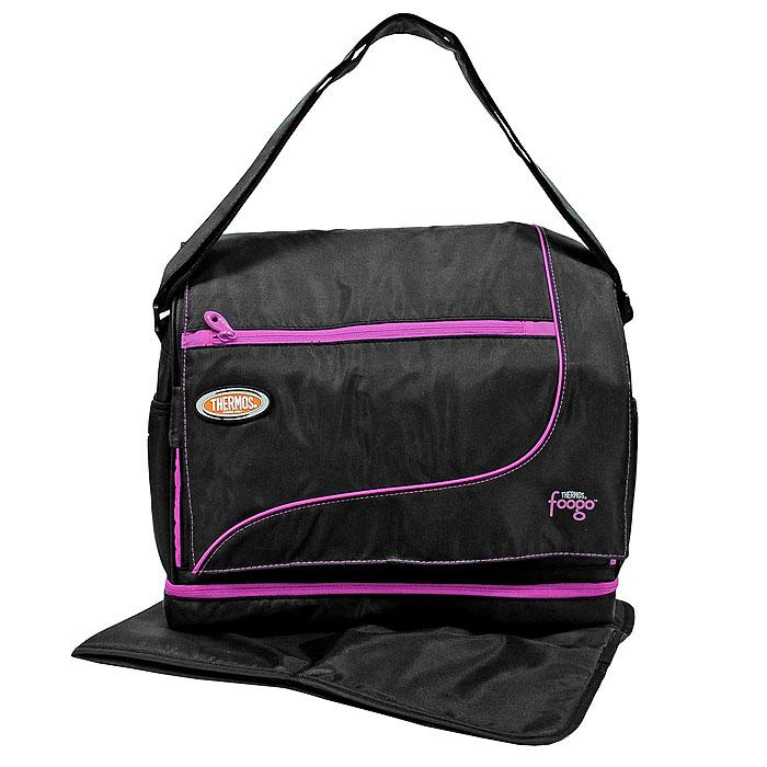 Сумка-термос Foogo Large Diaper Sporty Bag, цвет: черный, розовый, 8,8 л