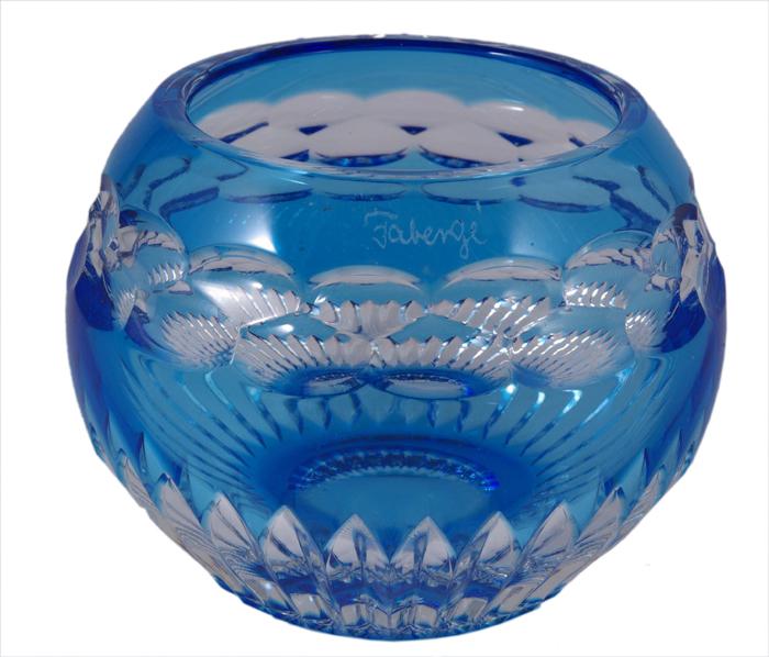Подсвечник Голубая звезда. Хрусталь, гранение, House of Faberge. Начало ХХI века