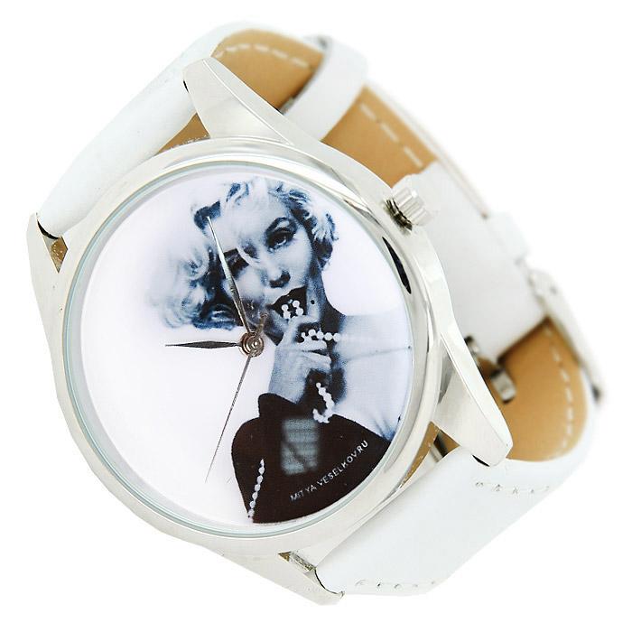 Часы Mitya Veselkov Монро с бусами. MV.White-27