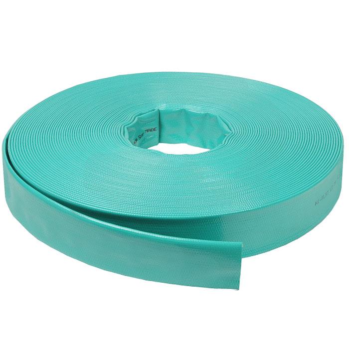 Шланг Hi-Flat LD, плоский, цвет: зеленый, 40 мм x 50 м3717234, 70111.63150.59007Плоский непрозрачный шланг Hi-Flat LD зеленого цвета изготовлен из ПВХ и армирован капроновой нитью. Шланг предназначен для транспортировки непищевой воды под давлением до 4 бар. Обладает высокой прочностью. Рабочая температура от -10°С до +50°С.