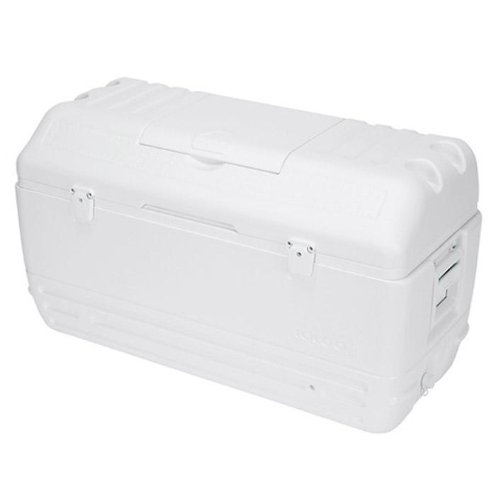 Изотермический пластиковый контейнер Igloo MaxCold 16544419Изотермический пластиковый контейнер Igloo MaxCold 165 предназначен для кратковременного хранения или транспортировки охлажденных продуктов и напитков. Для поддержания температуры рекомендуется использовать с аккумуляторами холода. Особенности модели: Крышка надежно фиксируется двумя замками; Резьбовая сливная пробка для отвода конденсата; Двойная пенная изоляция корпуса и крышки UltraTherm позволяет поддерживать хранить лед 7 дней при 30°С; Люк для быстрого доступа к содержимому контейнера; 4 держателя со сливом для напитков в крышке контейнера; Удобные складные ручки для переноски.