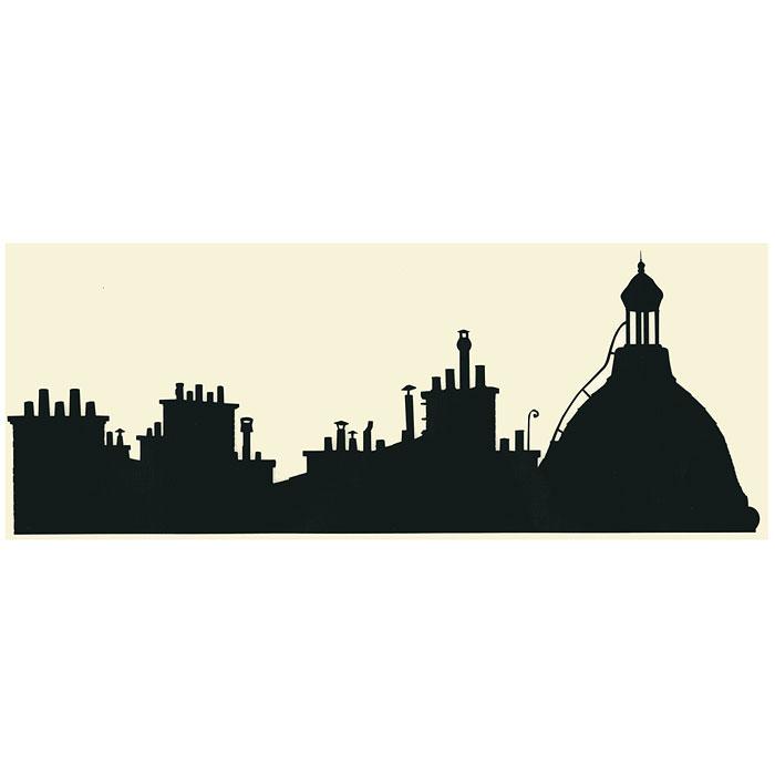 """Стикер Paristic """"Мини-вид на Купол"""" № 1, цвет: черный, 17 х 36 см"""