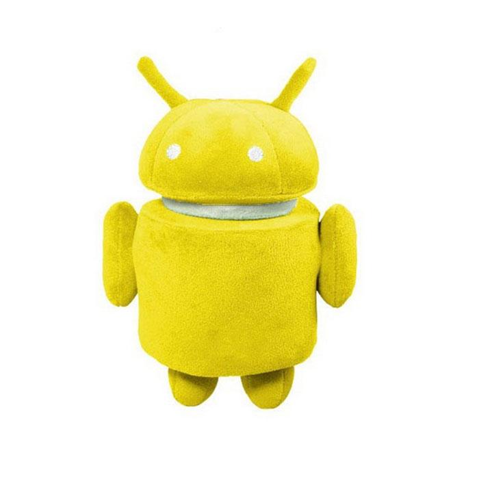 Плюшевая игрушка Android, цвет: желтый, 17 смAND006Самая популярная операционная система для мобильных устройств воплощена в замечательной плюшевой игрушке. Знаменитый робот Android теперь существует не только на заставке телефона! Яркая плюшевая фигурка желтого цвета выполнена из нетоксичных, экологически чистых материалов и поэтому не имеет ограничений по возрасту. Она очень мягкая и чрезвычайно приятная на ощупь, ее можно поставить на ножки. У игрушки крутится голова, на пузике вышита надпись Android. Плюшевый робот будет отлично смотреться в качестве веселого подарка - в первую очередь, конечно, для фанатов ОС Android.