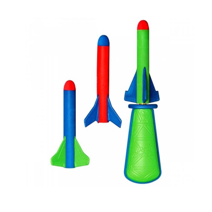Игровой набор Pop RocketzZG0100Игровой набор Pop Rocketz, несомненно, привлечет внимание ребенка и не позволит ему скучать. Набор содержит ручной пневматический ракетомет в виде груши с воздухом и 3 мини-ракеты. Несмотря на небольшие размеры и простую конструкцию ракетомет способен совершить выстрел до 15 метров в высоту. Игрушки выполнены из прочного мягкого материала, они не сломаются и никого не смогут поранить, так что с ними можно спокойно развлекаться как дома, так и на улице!