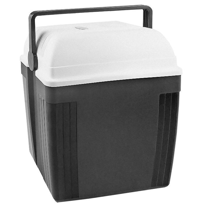 Автомобильный холодильник Ezetil TurboFridge E 27 S, цвет: серый, 27 л10776085Малогабаритный электрический холодильник Ezetil TurboFridge E 27 S предназначен для хранения и транспортировки продуктов и напитков. Контейнер удобно использовать в салоне автомобиля в качестве портативного холодильника. Он легко поместится в любой машине! Особенности автомобильного холодильника Ezetil TurboFridge E 27 S: выполнен из прочного пластика высокого качества работает от 12 В прикуривателя, 220 В сети переменного тока может быть использован как для охлаждения, так и для нагрева функцию устройства можно установить с помощью переключателя, расположенного на крышке внутри контейнера имеется вместительный отсек для хранения продуктов и напитков подходит для хранения 1,5-литровых бутылок в вертикальном положении встроенный вентилятор, изоляция из пеноматериала и отсек для хранения шнура питания и штепсельной вилки (12 В) вмонтирован в крышку дополнительный внутренний вентилятор в холодильной камере обеспечивает...