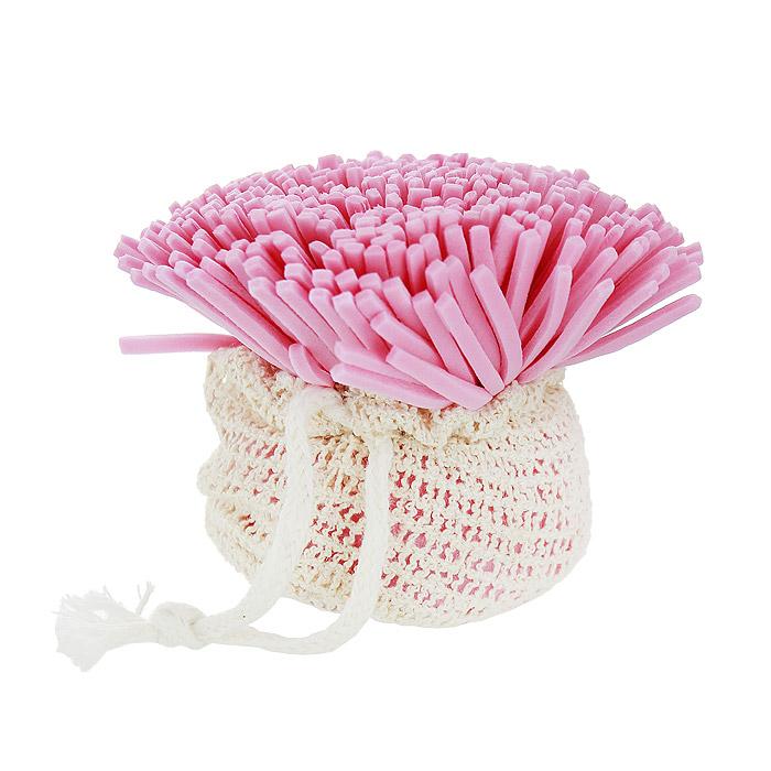 Мочалка Банные штучки Гвоздика, для нежной и чувствительной кожи, цвет: слоновая кость, розовый40083Мочалка Банные штучки Гвоздика изготовлена из синтетического полимера в виде цветка гвоздики. Она подходит для нежной и чувствительной кожи. Прекрасно взбивает мыло и гель для душа, дает обильную пену, обладает легким массажным воздействием. На мочалке имеется удобная петля для подвешивания. Перед применением мочалку необходимо смочить водой, и она станет мягкой. Мочалка Банные штучки Гвоздика станет незаменимым аксессуаром ванной комнаты.