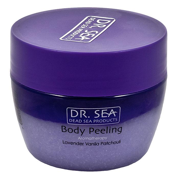 Пилинг для тела Dr. Sea ароматический, с маслами лаванды, ванили и пачули, 320 мл