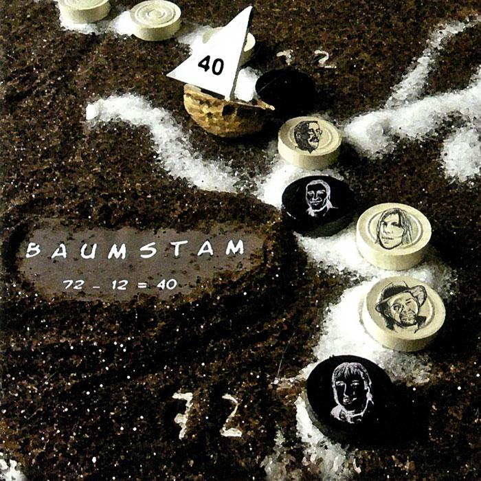 Baumstam. 72 - 12 = 40