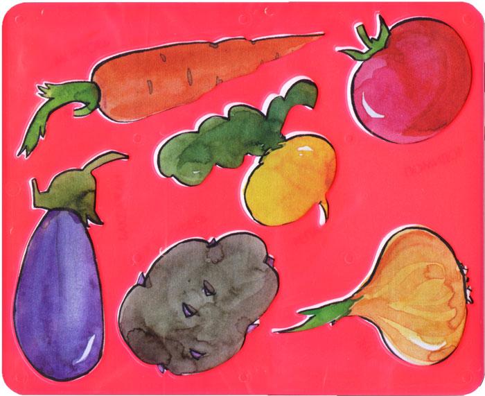 Трафарет Овощи, цвет в ассортименте19092Нарисуй овощи и собери свой собственный урожай с помощью трафарета Овощи. Комплект состоит из трафарета и бумажной основы с овощами, размещенными на трафарете. Трафарет можно использовать для рисования отдельных овощей и композиций, удобно использовать трафарет для изготовления аппликаций. Трафарет предназначен для развития мелкой моторики и зрительно-двигательной координации, зрительного восприятия и навыков художественной композиции.