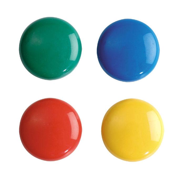 Магниты Erich Krause, 2 см, 12 шт22460Яркие цветные магниты Erich Krause помогут не только надежно прикрепить листы бумаги к любой железной или стальной поверхности, но и расставить акценты, выделить важную информацию при проведении семинаров, мозговых штурмов или презентаций. В наборе магниты красного, черного, синего, белого, желтого и зеленого цветов.