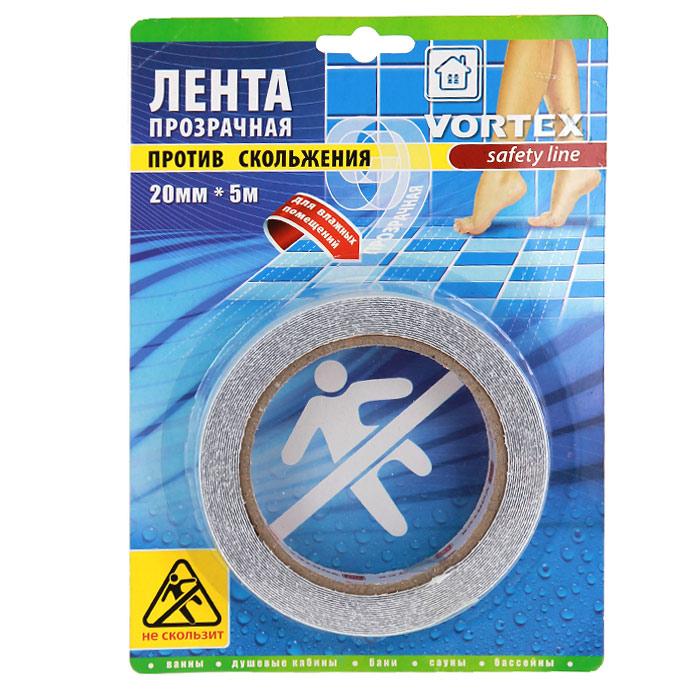 Лента противоскользящая Vortex для влажных помещений, прозрачная, 20 мм х 5 м22513Противоскользящая прозрачная лента Vortex, выполненная из мягкого текстурированного полимера, предназначена для покрытия поверхностей в местах с повышенной влажностью - в ванной, душевых кабинах, банях, саунах, раздевалках, вокруг бассейнов. Безопасная, противоскользящая поверхность, высокая прочность и долговечность. Легко очищается бытовыми моющими средствами. Эффективно защищает от скольжения, падений и травм. Проста в применении. Характеристики: Материал: мягкий текстурированный полимер, (ПВХ) высокоэффективный клеящий состав. Ширина ленты: 20 мм. Длина ленты: 5 м. Размер упаковки: 21 см х 15 см х 2 см. Изготовитель: Китай. Артикул: 22513.