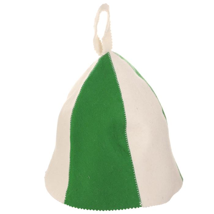 Шапка для бани и сауны Банные штучки Разноцветная, цвет: белый, зеленый41116Шапка для бани и сауны Банные штучки Разноцветная, изготовленная из войлока, это незаменимый аксессуар для любителей попариться в русской бане и для тех, кто предпочитает сухой жар финской бани. Необычный дизайн изделия поможет сделать ваш отдых более приятным и разнообразным, к тому же шапка защитит вас от появления головокружения в бане, ваши волосы от сухости и ломкости, а голову от перегрева. Такая шапка станет отличным подарком для любителей отдыха в бане или сауне. Диаметр основания шапки: 36 см. Высота шапки (без учета петельки): 26 см.