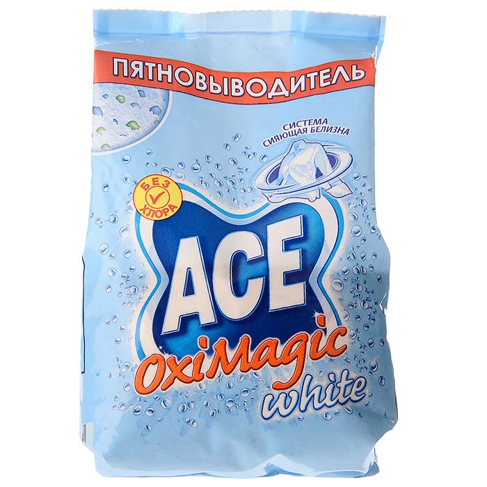 Пятновыводитель Ace Oxi Magic White, 200 гAC-81498156Пятновыводитель Ace Oxi Magic White предназначен для стирки в автоматических стиральных машинах и ручной стирки. Удаляет трудновыводимые пятна. Подходит для белых и цветных тканей, а также тканей, требующих деликатного ухода (кроме шерсти и шелка). Эффективен уже при 30°C. Не содержит хлора. Характеристики: Вес: 200 г. Изготовитель: Россия. Товар сертифицирован.