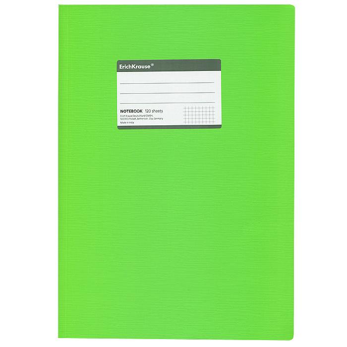 Тетрадь Fluor, цвет: зеленый, 120 листов, А431487Общая тетрадь Fluor со скругленными уголками представляет новую линию универсальных общих тетрадей Erich Krause, предназначенных для студентов, учеников старших классов, преподавателей и для всех тех, кому важно записывать и надежно хранить нужную информацию. Яркая зеленая обложка из ламинированного картона надежно защитит от влаги и поможет сохранить аккуратный внешний вид тетради. Внутренний блок выполнен из белой бумаги в серую клетку без полей. На обложке расположена наклейка для подписи тетради. Характеристики: Материал: картон, бумага. Размер тетради: 20,7 см х 29,2 см х 1,1 см. Формат: А4. Количество листов: 120. Изготовитель: Индия.