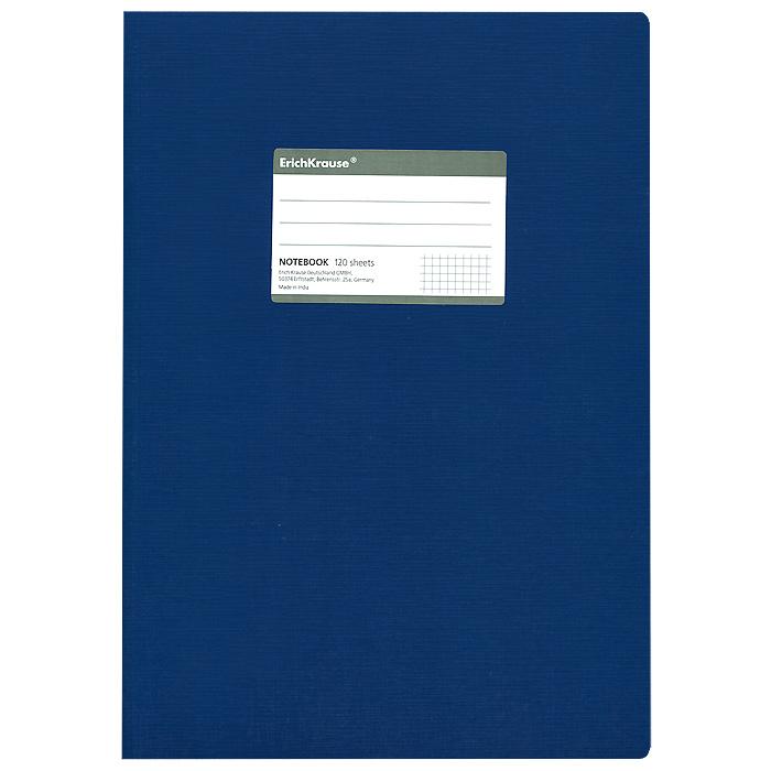 Тетрадь One Color, цвет: синий, 120 листов, А427975Общая тетрадь One Color со скругленными уголками представляет новую линию универсальных общих тетрадей Erich Krause, предназначенных для студентов, учеников старших классов, преподавателей и для всех тех, кому важно записывать и надежно хранить нужную информацию. Обложка, выполненная из ламинированного картона, надежно защитит от влаги и поможет сохранить аккуратный внешний вид тетради. Внутренний блок выполнен из белой бумаги в серую клетку без полей. На обложке расположена наклейка для подписи тетради. Характеристики: Материал: картон, бумага. Размер тетради: 20,7 см х 29,2 см х 1,1 см. Формат: А4. Количество листов: 120. Изготовитель: Индия.