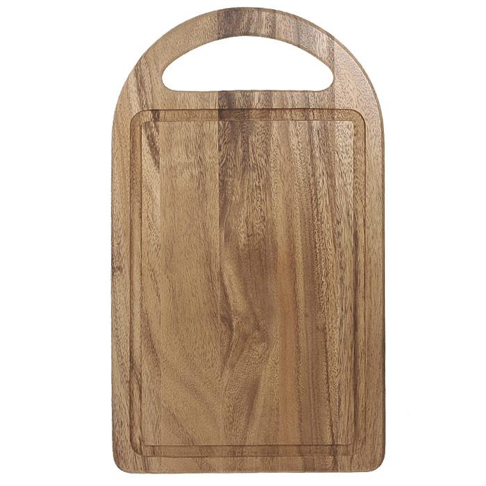 Доска разделочная Oriental way 40,5 х 23см 9/8859/885Прямоугольная разделочная доска Oriental way с ручкой изготовлена из высококачественной древесины гевеи. Доска имеет углубление для стока жидкости вдоль края. Прекрасно подходит для приготовления и сервировки пищи. Особенности разделочной доски Oriental way: высокое качество шлифовки поверхности изделий, двухслойное покрытие пищевым лаком, безопасным для здоровья человека, степень влажность 8-10%, не трескается и не рассыхается, высокая плотность структуры древесины, устойчива к механическим воздействиям, не предназначена для мытья в посудомоечной машине.