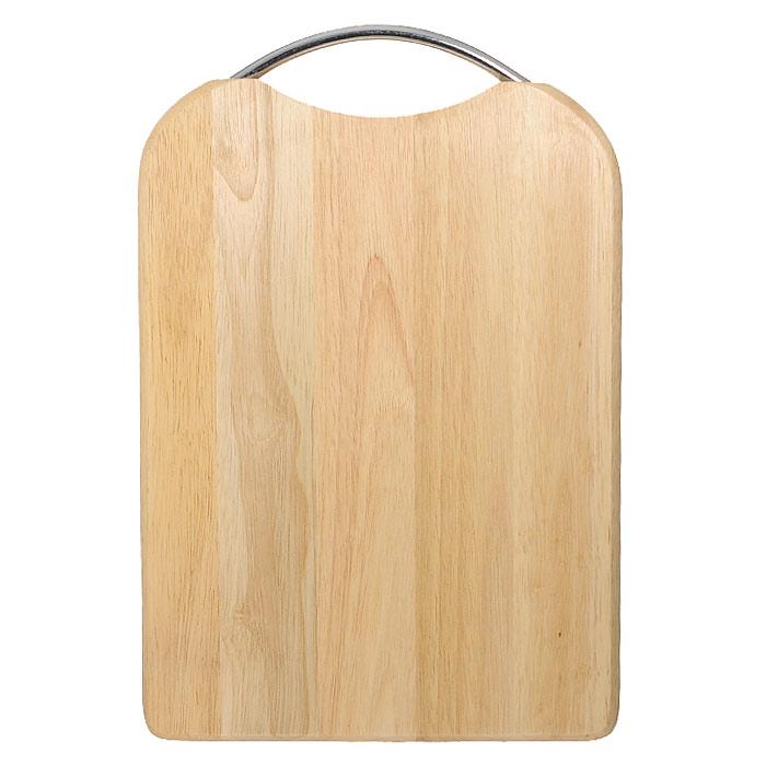 Доска разделочная Oriental way 34 х 24см 9/9049/904Прямоугольная разделочная доска Oriental way с металлической ручкой изготовлена из высококачественной древесины гевеи. Прекрасно подходит для приготовления и сервировки пищи. Особенности разделочной доски Oriental way: высокое качество шлифовки поверхности изделий, двухслойное покрытие пищевым лаком, безопасным для здоровья человека, степень влажность 8-10%, не трескается и не рассыхается, высокая плотность структуры древесины, устойчива к механическим воздействиям, не предназначена для мытья в посудомоечной машине.