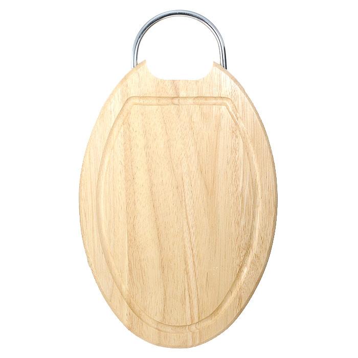 Доска разделочная Oriental way 32,5 х 22,5см 9/9059/905Овальная разделочная доска Oriental way с металлической ручкой изготовлена из высококачественной древесины гевеи. Доска имеет углубление для стока жидкости вдоль края. Прекрасно подходит для приготовления и сервировки пищи. Особенности разделочной доски Oriental way: высокое качество шлифовки поверхности изделий, двухслойное покрытие пищевым лаком, безопасным для здоровья человека, степень влажность 8-10%, не трескается и не рассыхается, высокая плотность структуры древесины, устойчива к механическим воздействиям, не предназначена для мытья в посудомоечной машине.