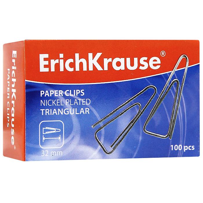 Скрепки никелированные Erich Krause, 32 мм, 100 шт. 2487024870Скрепки Erich Krause - это универсальный офисный инструмент. Скрепки треугольной формы изготовлены из высококачественной металлической проволоки с никелированным покрытием. Не пачкают и не царапают бумагу. Скрепки Erich Krause обеспечат не только надежное скрепление документов и офисных бумаг, но и добавят ярких красок на ваш рабочий стол. Характеристики: Материал: металл. Покрытие: никель. Размер скрепки: 3,2 см x 1 см. Количество: 100 шт. Размер упаковки: 6,5 см x 4 см x 2,5 см. Изготовитель: Китай.
