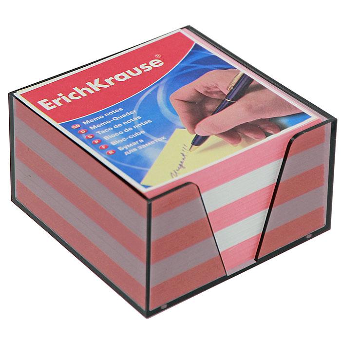 """Бумага для заметок """"Erich Krause"""", в боксе, цвет: розовый, белый"""