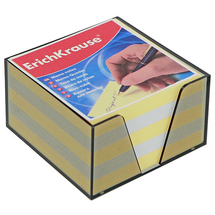 Бумага для заметок Erich Krause, в боксе, цвет: жетлый, белый, 9,5 см x 9,5 см x 5 см2720Бумага для заметок Erich Krause в боксе - незаменимая вещь, которая помогает организовать пространство на вашем рабочем столе. Лаконичный дизайн и удобство в использовании сделают бумагу для заметок вашим надежным помощником. Для удобства хранения бумаги предусмотрен прозрачный пластиковый бокс, благодаря которому листы не растеряются и сохранят аккуратный вид на всем протяжении использования. Блок содержит бумагу двух цветов: желтого и белого.
