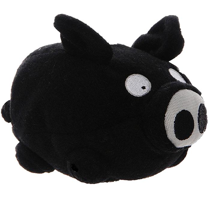 Мягкая интерактивная игрушка Woody OTime Свинка, цвет: черный, 10 смWT0406Woody OTime Свинка - сумасшедшая анимированная игрушка в виде забавной черной свинки. Если свинку ударить или уронить, она начнет издавать смешные хрюкающие звуки. Игрушка изготовлена из нетоксичных экологически чистых материалов, очень мягкая и чрезвычайно приятная на ощупь. После стирки не деформируется и не теряет внешний вид. Благодаря наполнителю из мелких пластиковых гранул оказывает антистрессовое действие. Такая игрушка будет отлично смотреться в качестве оригинального веселого подарка и доставит массу положительных эмоций своему обладателю.