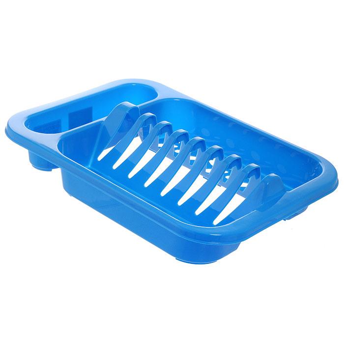 Подставка для посуды Oriental Way, цвет: голубой, 33 х 24 х 7,5 см8808Подставка для посуды Oriental Way выполнена из высококачественного прочного пластика. Изделие имеет 8 выемок для сушки тарелок, а также 3 емкости для столовых приборов. Подставка очень компактная и не займет много места на вашей кухне. Стильный яркий дизайн сделает ее красивым дополнением интерьера кухни.