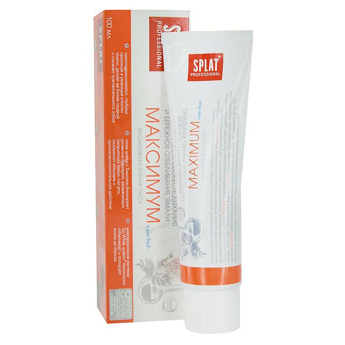 Зубная паста Splat Professional Maximum/Максимум, биоактивная, 100 млМК-149Инновационная зубная паста с наногидроксиапатитом, ионами цинка и растительными экстрактами предназначена для максимального освежения полости рта, эффективной защиты от кариеса и укрепления эмали. Суперсвежая отбеливающая зубная паста действует эффективно благодаря синергии нанотехнологий и высокой активности природных компонентов. Ионы кальция в наноформе проникают в поврежденные участки эмали и укрепляют ее, действуя идентично пломбе. Отбеливающий компонент Polydon в высокой концентрации обеспечивает удаление налета от табака, чая и кофе. Натуральный фермент Папаин расщепляет белковый налет. Ионы цинка в сочетании с природным антисептиком Тимолом блокируют развитие болезнетворных бактерий, вызывающих неприятный запах изо рта. Инновационная система Luctatol направленно уничтожает кариесогенные бактерии. Не содержит: SLS, триклозан, хлоргексидин, сахаринат, пероксид. Без фтора. Активные компоненты: Наногидроксиапатит, Polydon,...
