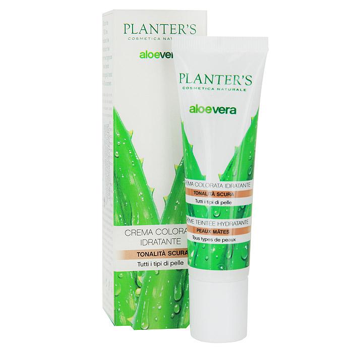 Тональный крем Planters Aloe Vera, увлажняющий, с эффектом загара, тон: темный, для всех типов кожи, 30 мл
