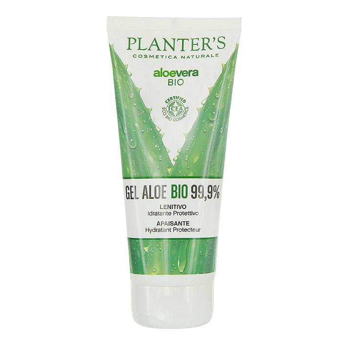 Гель для тела Planters Aloe Vera Bio, для всех типов кожи, 200 мл7850,7354Гель для тела Planters Aloe Vera Bio состоит из чистого сока алоэ. Имеет эко сертификат. Гель защищает, смягчает и увлажняет. Подходит для всех типов кожи. Смягчающие, увлажняющие и противовоспалительные свойства алоэ делают этот гель незаменимым при солнечных ожогах, для сухой и потрескавшейся кожи, укусах насекомых. Гель хорошо подходит и для ухода за тонкой чувствительной детской кожей. Основные ингредиенты: 100% сок алоэ, лимонная кислота, экстракт риса. Способ применения : обильно нанести на очищенную кожу, дать высохнуть.