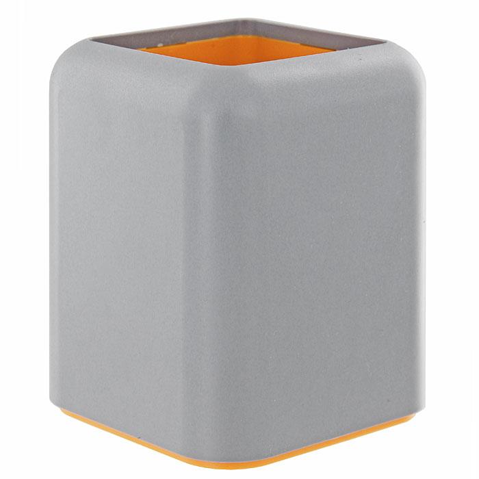 Подставка для пишущих принадлежностей Forte, цвет: серый20153Оригинальная форма подставки в сочетании с фирменных дизайном коллекции Forte обеспечат не только отлично организованное рабочее пространство, но и придадут Вашему столу элегантный вид. Характеристики: Размер: 8,5 см х 8,5 см х 10,5 см. Изготовитель: Россия.