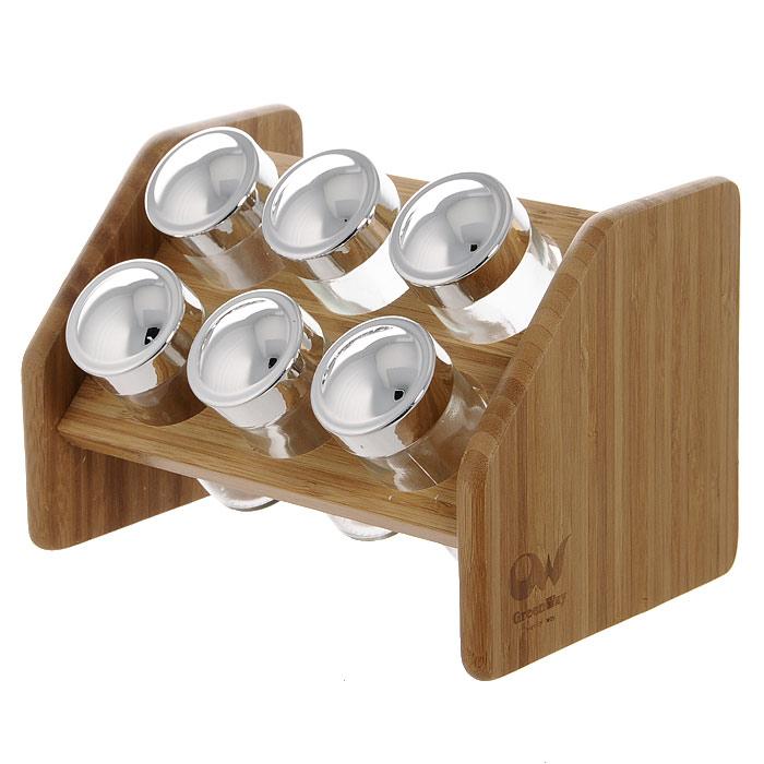 Полка для специй Oriental Way, 6 банокBS4067Полка для специй Oriental Way изготовлена из высококачественной древесины бамбука. Баночки для специй имеют надежно завинчивающиеся крышки и перфорированные накладки, позволяющие удобно приправлять блюда специями, не опасаясь рассыпать их. Большинство специй обладает достаточно сильными ароматами. Поэтому хранить специи рекомендуется в плотно закрытых, изолированных друг от друга емкостях, чтобы запахи не смешивались между собой. Особенности полки для специй Oriental Way: - сделана из природного материала; - гармонирует с любым интерьером; - долгий срок службы; - не впитывает влагу; - не впитывает запахи; - нельзя мыть в посудомоечной машине. Характеристики: Материал: бамбук, стекло, пластик. Размер полки: 20 см х 13,5 см х 13,5 см. Размер банки: 9,5 см х 4 см х 4 см. Количество банок: 6 шт. Размер упаковки: 21 см х 15,5 см х 15,5 см. Производитель: Китай. Артикул: BS4067.
