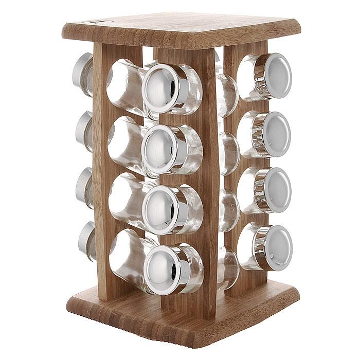 Полка для специй Oriental Way, 16 банок BS4016RBS4016RПолка для специй Oriental Way изготовлена из высококачественной древесины бамбука. Полка оснащена вращающимся основанием и включает в себя 4 вертикальные полки с 4 отсеками под банки в каждой. Банки для специй имеют надежно завинчивающиеся крышки и перфорированные накладки, позволяющие удобно приправлять блюда специями, не опасаясь рассыпать их. Большинство специй обладает достаточно сильными ароматами, поэтому хранить специи рекомендуется в плотно закрытых, изолированных друг от друга емкостях, чтобы запахи не смешивались между собой. Особенности полки для специй Oriental Way: - сделана из природного материала; - гармонирует с любым интерьером; - долгий срок службы; - не впитывает влагу; - не впитывает запахи; - нельзя мыть в посудомоечной машине. Характеристики: Материал: бамбук, стекло, пластик. Размер полки: 29,5 см х 17 см х 17 см. Размер банки: 10 см х 4 см х 4 см. Количество банок: 16 шт. Размер...