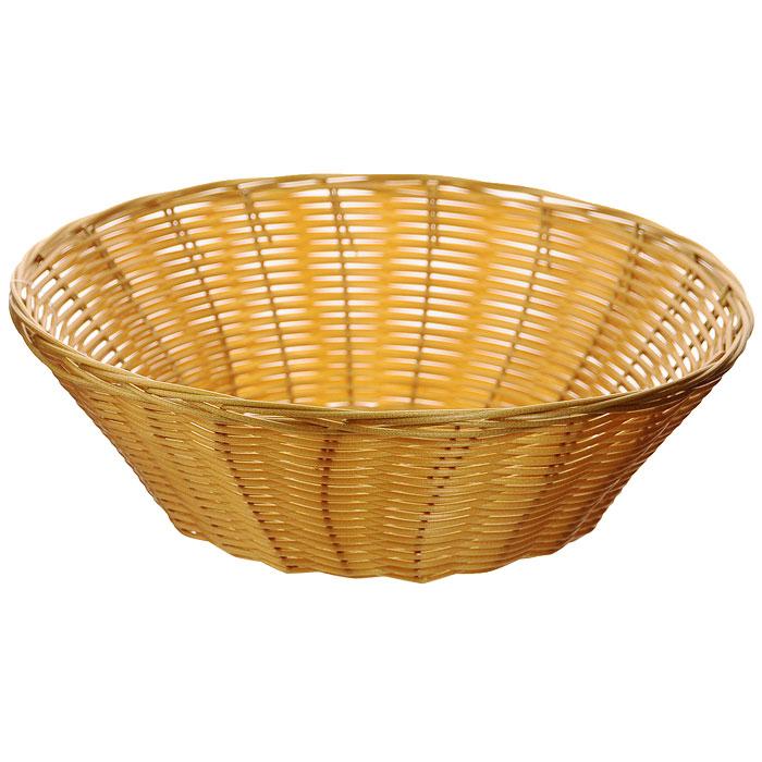Корзинка плетеная Oriental Way Мульти, круглая. Диаметр 22 см. MJ-PP002BRMJ-PP002BRПлетеная корзинка Oriental Way Мульти изготовлена из устойчивого к воздействию окружающей среды полипропилена. Идеально подходит для хранения выпечки, конфет, фруктов, косметики, рукоделия и оформления подарков. Срок эксплуатации корзины может составлять десятки лет. Она не требует тщательного ухода, не впитывает запахи, не боится воды и не разрушается от перепада температур. Плетеная корзинка Oriental Way Мульти отлично впишется в интерьер вашего дома.