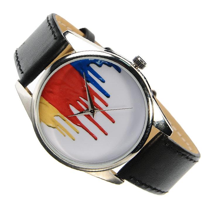 Часы Mitya Veselkov Гуашь на белом. MV-124
