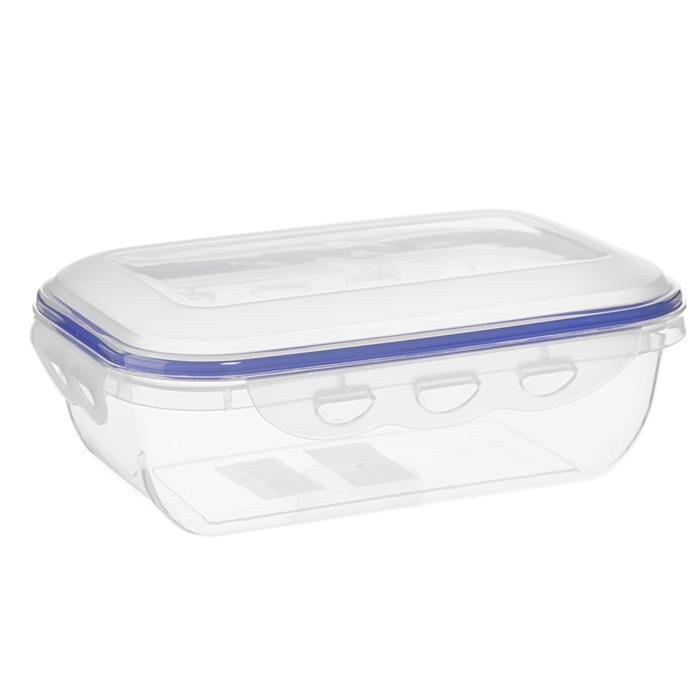 Контейнер для СВЧ NeoWay Enjoy прямоугольный, 1,3 лCP1022AПрямоугольный контейнер для СВЧ NeoWay Enjoy, выполненный из высококачественного пластика, это удобная и легкая тара для хранения и транспортировки бутербродов, порционных салатов, мяса или рыбы, горячих и холодных блюд, даже жидких продуктов. Контейнер 100% герметичен. Крышка оснащена четырьмя специальными защелками и силиконовым уплотнителем. Клипсы (защелки) позволяют произвести защелкивание более чем 400000 раз. Пустотелый силиконовый уплотнитель имеет большую гибкость и лучшее прилегание. Контейнеры могут быть вставлены один в другой, что позволяет сэкономить много пространства. Контейнер для СВЧ NeoWay Enjoy выдерживает температуру в диапазоне от -20°C до +120°C, его можно мыть в посудомоечной машине и нельзя нагревать пустым. Характеристики: Материал: пластик. Объем контейнера: 1,3 л. Размер контейнера: 21,5 см х 14 см. Высота контейнера (без учета крышки): 6,5 см. Производитель: Китай. Артикул: CP1022A.