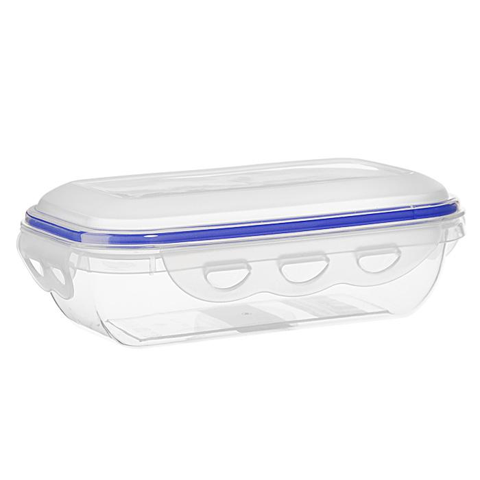 Контейнер для СВЧ NeoWay Enjoy прямоугольный, 0,58 лCP1021AПрямоугольный контейнер для СВЧ NeoWay Enjoy, выполненный из высококачественного пластика, это удобная и легкая тара для хранения и транспортировки бутербродов, порционных салатов, мяса или рыбы, горячих и холодных блюд, даже жидких продуктов. Контейнер 100% герметичен. Крышка оснащена четырьмя специальными защелками и силиконовым уплотнителем. Клипсы (защелки) позволяют произвести защелкивание более чем 400000 раз. Пустотелый силиконовый уплотнитель имеет большую гибкость и лучшее прилегание. Контейнеры могут быть вставлены один в другой, что позволяет сэкономить много пространства. Контейнер для СВЧ NeoWay Enjoy выдерживает температуру в диапазоне от -20°C до +120°C, его можно мыть в посудомоечной машине и нельзя нагревать пустым. Характеристики: Материал: пластик. Объем контейнера: 0,58 л. Размер контейнера: 18,5 см х 11 см. Высота контейнера (без учета крышки): 4,6 см. Производитель: Китай. Артикул: CP1021A.
