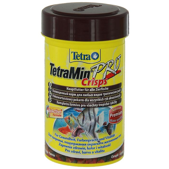 Корм TetraMin Pro Grisps для всех видов аквариумных тропических рыб, в виде чипсов, 100 мл207174018Полноценный корм для всех видов аквариумных тропических рыб. Особенности TetraMin Pro Crisps: Благодаря низкотемпературной технологии изготовления корм очень питателен. С формулой чистой и прозрачной воды. Запатентованная БиоАктив-формула поддерживает здоровую иммунную систему. Для понижения уровня загрязнения воды, и вследствие этого, уменьшения роста водорослей. Характеристики: Состав: рыба и побочные рыбные продукты, экстракты растительного белка, зерновые культуры, дрожжи, моллюски и раки, масла и жиры, водоросли, минеральные вещества, сахар. Пищевая ценность: сырой белок - 46%, сырые масла и жиры - 12%, сырая клетчатка - 3%, влага - 8%. Добавки: витамины, провитамины, витамин А 30650 МЕ/кг, витамин Д3 1915 МЕ/кг, Л-карнитин 125 мг/кг. Комбинации элементов: Е5 Марганец 69 мг/кг, Е6 Цинк 41 мг/кг, Е1 Железо 27 мг/кг, Е3 Кобальт 0,5 мг/кг. Красители, консерванты, антиоксиданты. Вес: 100 мл.
