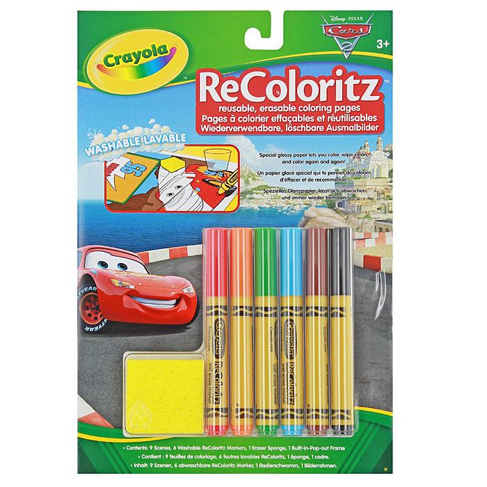 Набор для раскрашивания Тачки0071662026172Набор для раскрашивания Тачки, непременно понравится любителю героев одноименного мультсериала. Набор содержит пять листов с девятью изображениями героев мультсериала Тачки, шесть смывающихся водой маркеров красного, оранжевого, зеленого, синего, коричневого и черного цветов, губку и рамку для картинок. Ваш ребенок будет в восторге от такого набора, ведь цвета можно наносить поверх друг друга, а после высыхания картинка не пачкает руки. Изображение можно легко стереть или подкорректировать, входящей в комплект губкой. Упаковку можно использовать как рамку для игрушек.