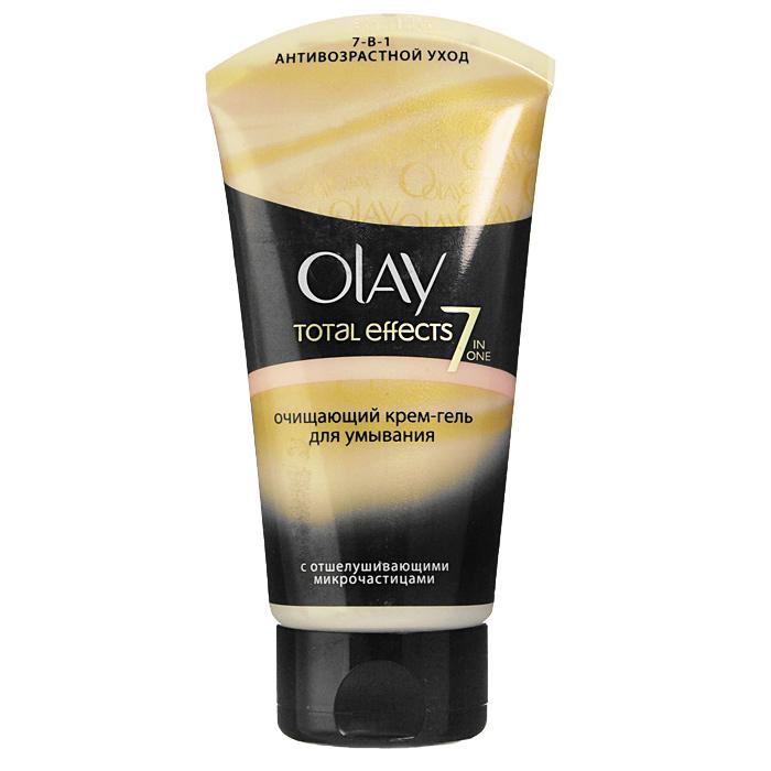 OLAY Очищающий крем-гель для умывания Total Effects 7x, 150 млOL-81077674Очищающий крем-гель для умывания OLAY Total Effects 7x глубоко и бережно очищает Вашу кожу, а также помогает бороться со всеми 7 признаками ее возрастных изменений: Способствует видимому уменьшению морщин и морщинок. Поддерживает оптимальный уровень увлажненности кожи, делает ее более мягкой. Улучшает цвет лица. Способствует заметному разглаживанию поверхности кожи. Помогает сохранить эластичность и упругость кожи. Стимулирует процесс естественного обновления кожи. Прекрасно снимает макияж и мягко удаляет загрязнения с кожи. С каждым днем Ваша кожа преображается: выглядит моложе и приобретает ощущение свежести.