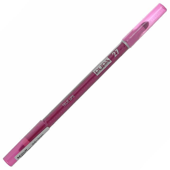 PUPA Карандаш для губ с аппликатором True Lips Pencil, тон 27 фуксия , 1.2 г025627Контурный карандаш для губ Pupa True Lips с аппликатором для тушевки завершает макияж и позволяет достичь необыкновенного результата. Наносит равномерную линию, придающую безупречный контур губам, благодаря своей возможности удерживать помаду. Практичный аппликатор из латекса удобен для растушевки цвета на поверхности губ. Подходит для профессионального использования.