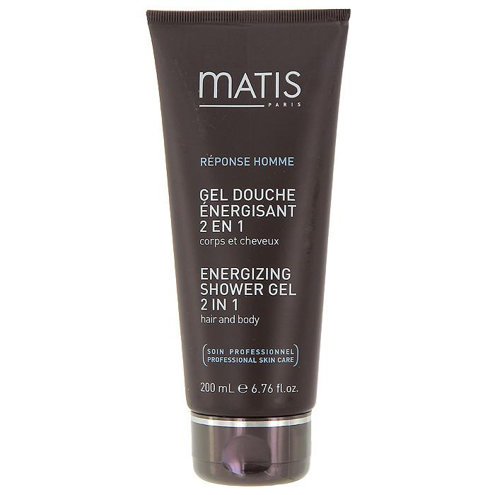 Гель для тела и волос Matis, энергетический, 200 мл