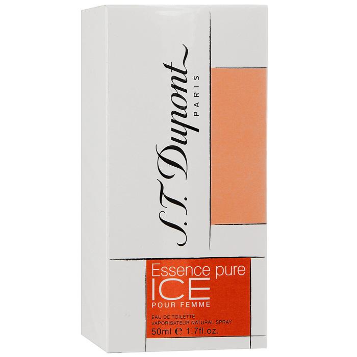 S.T. Dupont Essence Pure Ice Pour Femme. Туалетная вода, 50 мл942901Essence Pure Ice Pour Femme от S.T. Dupont - кристально-чистая гармония соединения ароматов. Каждая нота глубже предыдущей, каждый звук еще насыщеннее, каждое сплетение аромата служит легким продолжением предыдущего. Аромат Essence Pure Ice Pour Femme служит продолжением традиций всемирно известного дома S.T. Dupont. Классификация аромата : свежий, фужерный. Верхние ноты: бергамот, мандарин, арбуз. Ноты сердца: жасмин, лотос, роза. Ноты шлейфа: лист пачули, амбра, рис. Ключевые слова Незабываемый, прозрачный, свежий!