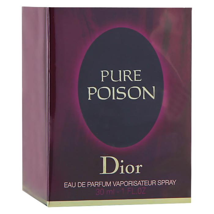 Christian Dior Pure Poison. Парфюмерная вода, женская, 30 млF008321609Аромат Christian Dior Pure Poison открывается чувственными, но необыкновенно выразительными нотами жасмина, сладкого апельсина, бергамота и сицилийского мандарина. Подарите себе этот чувственный, искрящийся и очень притягательный аромат, а он в свою очередь сделает ваш образ по-настоящему незабываемым. Классификация аромата : цитрусовый, цветочный. Верхние ноты: жасмин, апельсин, калабрийский бергамот, сицилийский мандарин. Ноты сердца: гардения, цейлонский кардамон. Ноты шлейфа: амбра, белый мускус, сандал. Ключевые слова : Женственный, интимный, любовный, страстный! Характеристики: Объем: 30 мл. Производитель: Франция. Самый популярный вид парфюмерной продукции на сегодняшний день - парфюмерная вода. Это объясняется оптимальным балансом цены и качества - с одной стороны, достаточно высокая концентрация экстракта (10-20% при...