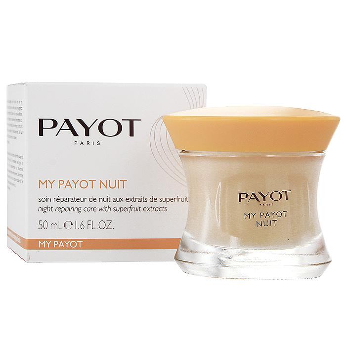 Средство для лица Payot, ночное, восстанавливающее, с активными растительными экстрактами, 50 мл65057939Ночное крем для уставшей кожи любого типа питает и повышает защитные способности кожи, восстанавливает. Наносите крем вечером на кожу лица, шеи и декольте.
