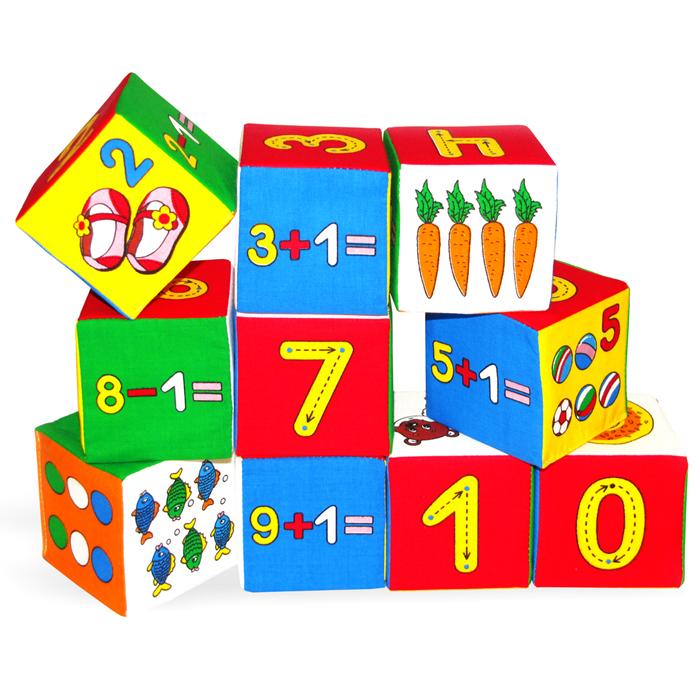 Кубики-мякиши Умная математика, 10 шт177Кубики-мякиши Умная математика - это уникальный набор из десяти мягких кубиков, которые научат малыша понимать, что такое цифра, счет, вычет, цвет, форма, мягкое, а также познакомят кроху с различными животными, растениями и предметами. Яркие и привлекательные кубики имеют удобный для руки ребенка размер и комбинированную расцветку. Кубики-мякиши Умная математика научат Вашего малыша: узнавать количество разных предметов; считать от 0 до 9; узнавать цифры от 0 до 9; изучать правила записи каждой цифры; обозначать цифрами разные количества предметов; решать примеры на сложение и вычитание. Кубики изготовлены из высококачественной ткани и мягкого наполнителя, что делает их абсолютно безопасными в игре. Удачно подобранный размер и цвет развивают мышление, координацию движений и совершенствуют моторику нежных пальчиков малыша. Характеристики: Материал: текстиль, поролон. Размер кубика: 7,5 см х 7,5 см. ...
