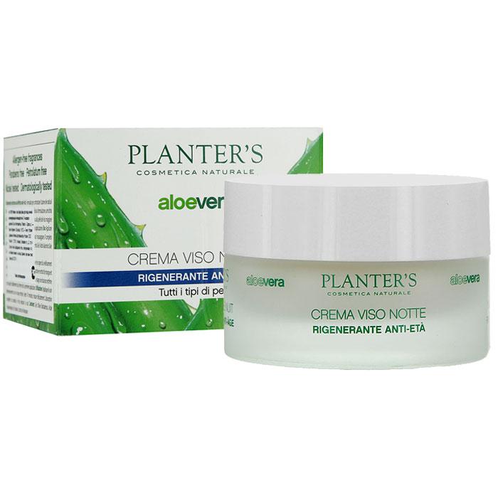 Крем для лица Planters Aloe Vera, ночной, регенерирующий, антивозрастной, 24 часового действия, для всех типов кожи, 50 мл
