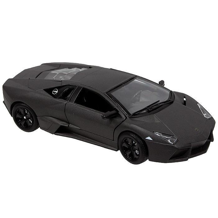 Bburago Модель автомобиля Lamborghini Reventon цвет темно-серый18-21041_темно-серыйСтильная модель автомобиля привлечет к себе внимание не только детей, но и взрослых. Она выполнена в масштабе 1:24 и в точности воспроизводит все детали внешнего облика реального великолепного спортивного автомобиля Lamborghini Reventon, производимого знаменитой итальянской компанией Lamborghini. Модель изготовлена из металла с использованием пластика и оборудована открывающимися дверцами и багажником и подвижными колесами. Располагается машинка на прямоугольной пластиковой подставке черного цвета. Коллекционная модель Lamborghini Reventon будет отлично смотреться в качестве оригинального подарка не только любителю автомобилей, но и человеку, ценящему стиль и изысканность, а качество исполнения представит такой подарок в самом лучшем свете. Lamborghini Reventon (Ламборгини Ревентон) - среднемоторный суперкар, дебютировавший в 2007 году на Франкфуртском автосалоне. Это самый дорогой Lamborghini для дорог общего пользования, стоящий примерно миллион...
